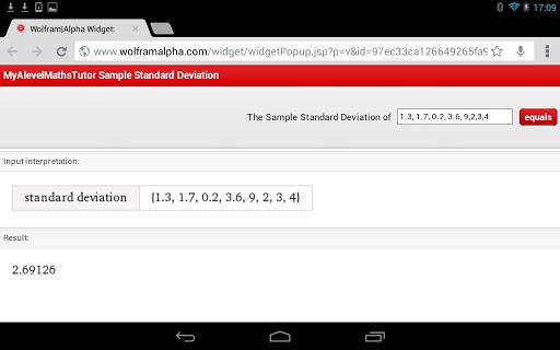 Standard Deviation Calculator