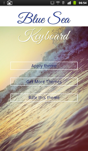 Blue Sea Keyboard