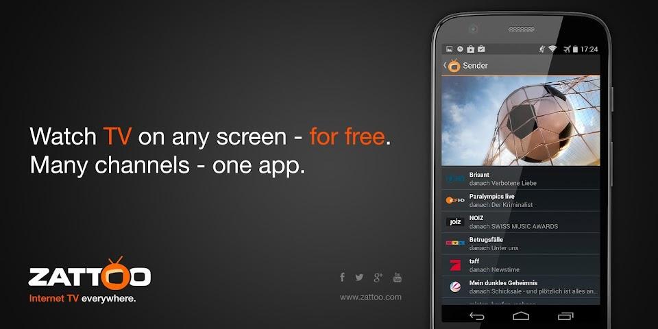 android Zattoo Live TV Screenshot 0