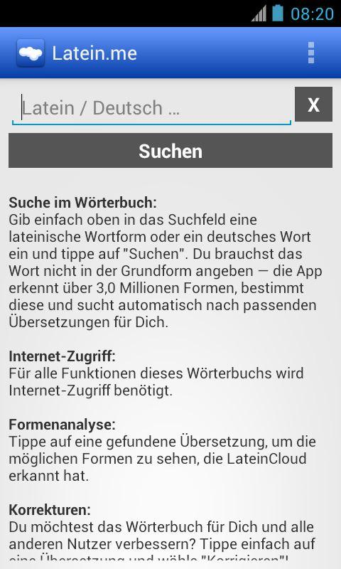 Latein-Wörterbuch (mit Formen) - screenshot
