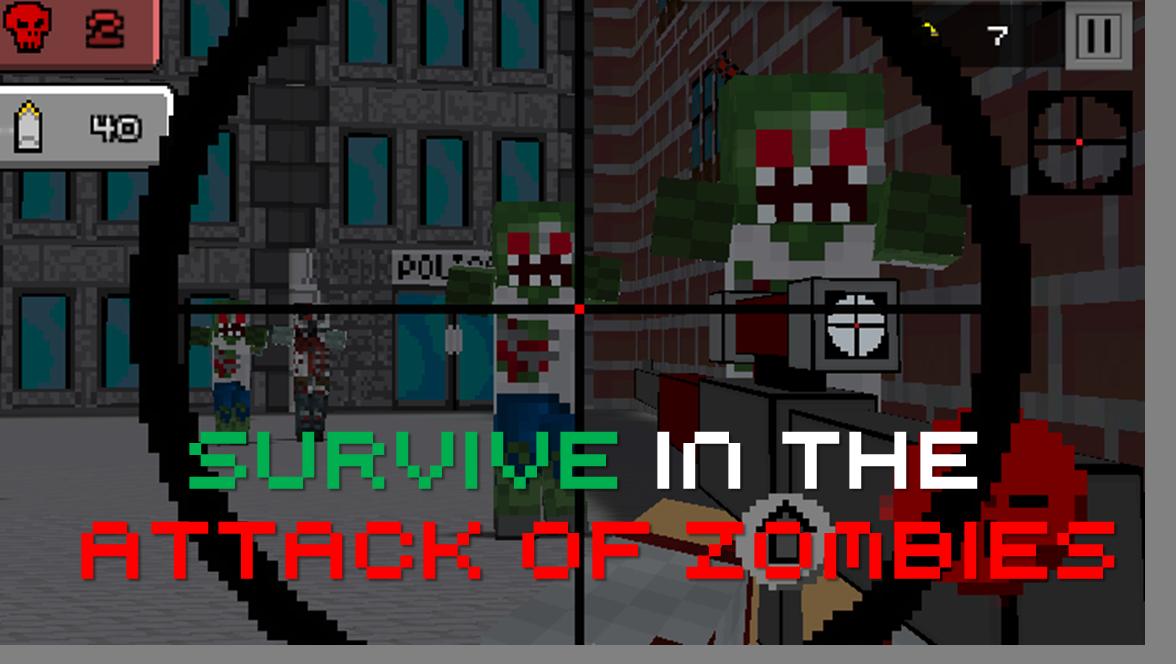 Pixel Sniper Zombie Apocalypse - screenshot