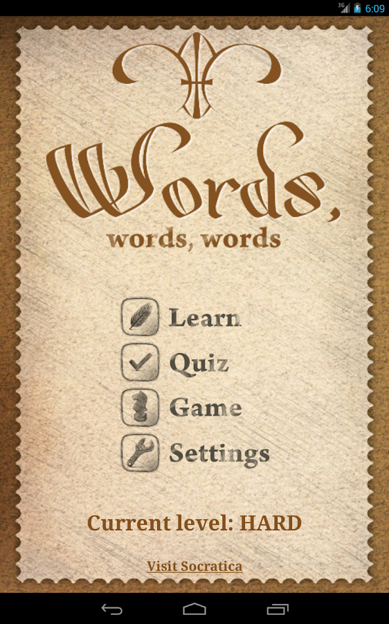Words, words, words!- screenshot