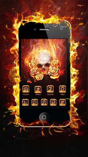 Flame Skull GO Launcher Theme