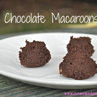 Raw Chocolate Coconut Macaroons (aka better brownie bites).