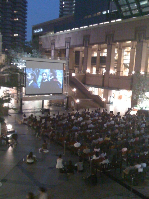 outdoor movies, free, at Ebisu Garden Place