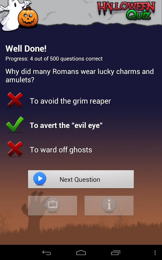 The Ultimate Halloween Quiz- screenshot