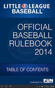 LL 2014 Baseball Rulebook