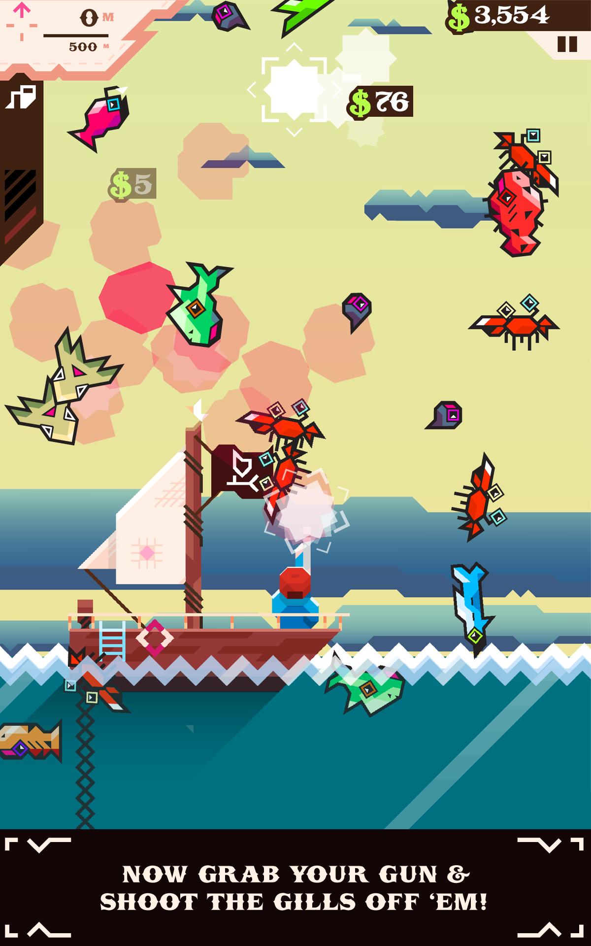 Ridiculous Fishing screenshot #9