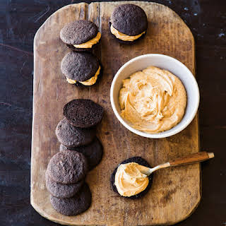 Chocolate-Peanut Butter Whoopie Pies.