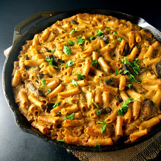 Pasta Gratin with a Cauliflower Chickpea Sauce