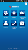 Screenshot of Banamex Mobile
