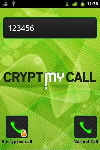CryptMyCall - screenshot