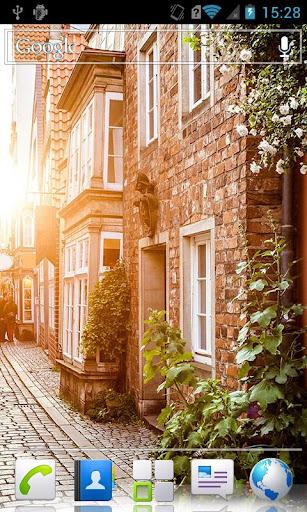 City streets HD Live Wallpaper