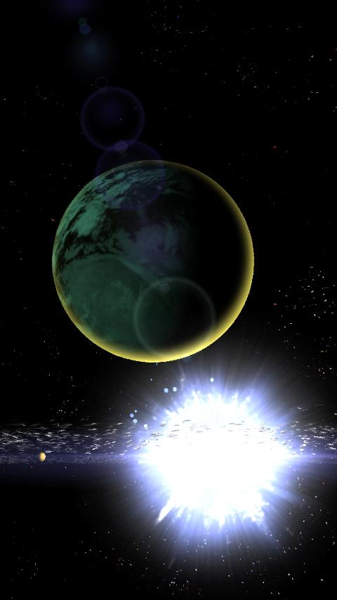 Celestial Bodies LiveWallpaper - screenshot