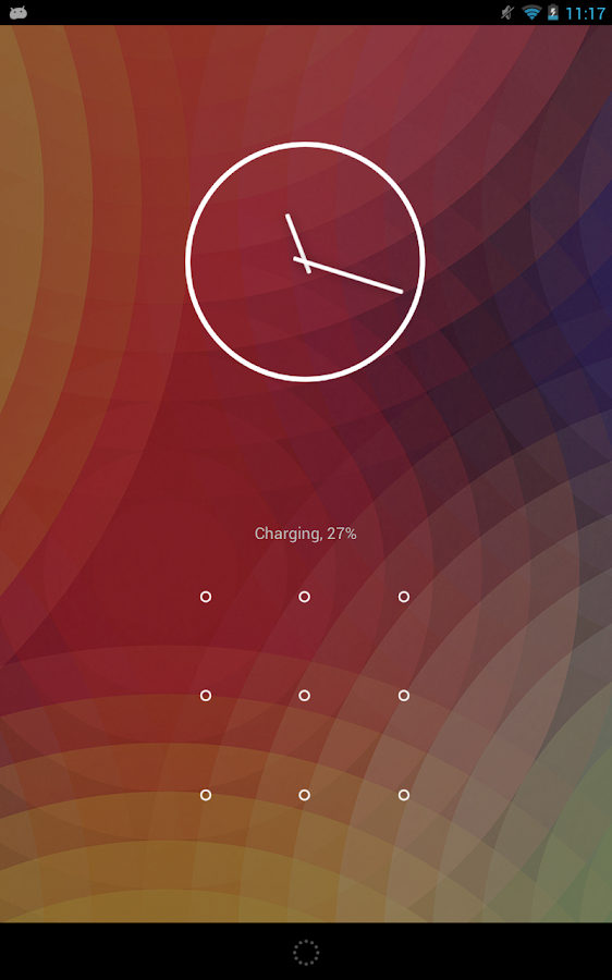 Android N Clock- screenshot
