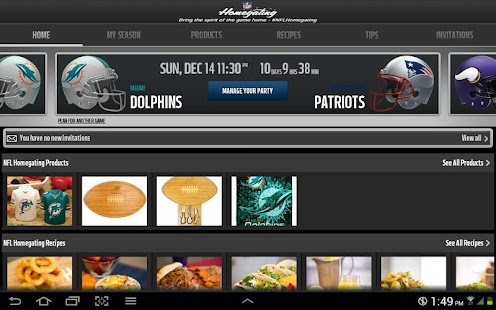 NFL Homegating - screenshot thumbnail