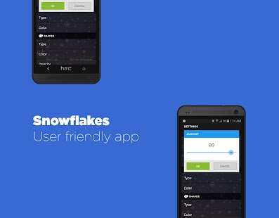 Snowflakes Live Wallpaper HD- screenshot thumbnail