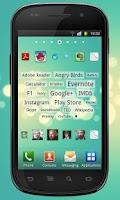 Screenshot of Tagy apps & contacts widgets
