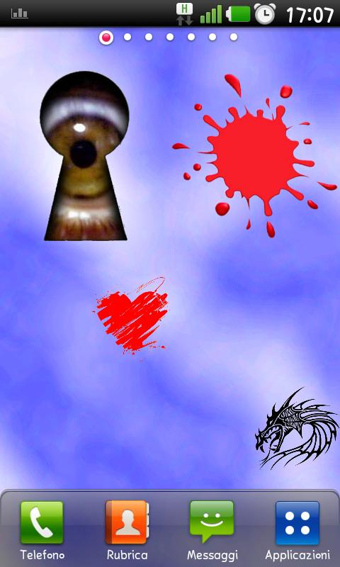 Keyhole sticker - screenshot