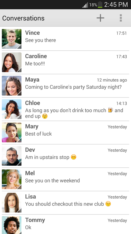 chomp SMS - screenshot