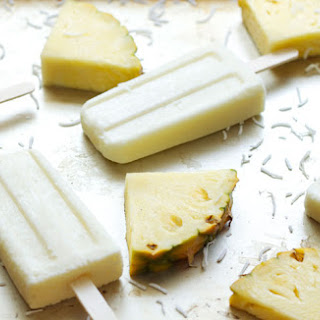 Coconut Pineapple Yogurt Pops.