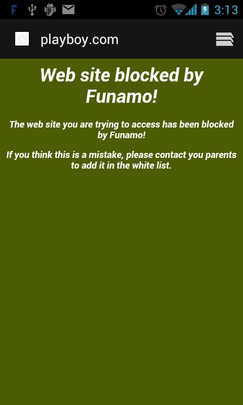 Funamo Parental Control- screenshot