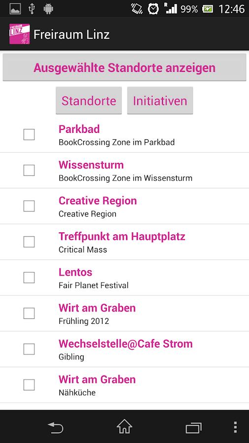 Freiraum Linz - screenshot