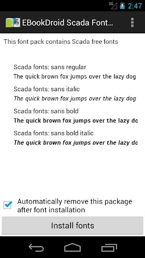 EBookDroid Scada FontPack
