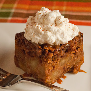 Caramel Apple Gingerbread Cake