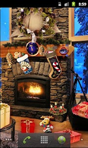 Christmas Fireplace LWP Full v1.21