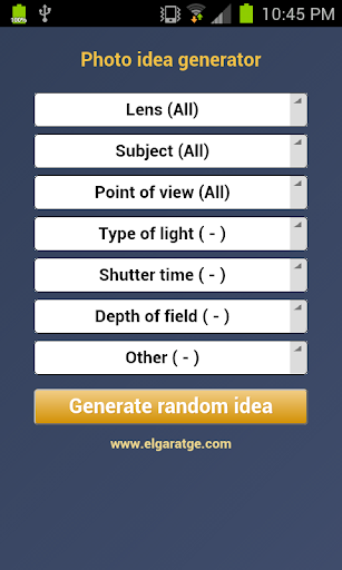 Photo Idea Generator