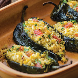 Quinoa and Florida Grapefruit Stuffed Poblano Peppers