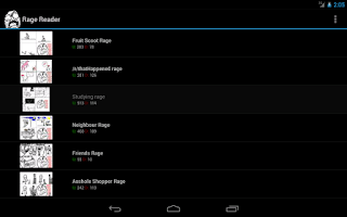 Screenshot of Rage Comics Reader