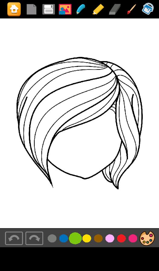 coloring girls hairstyles screenshot