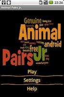 Screenshot of Animal Pairs Jr.