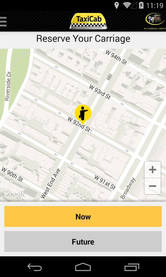 TaxiCab App- screenshot
