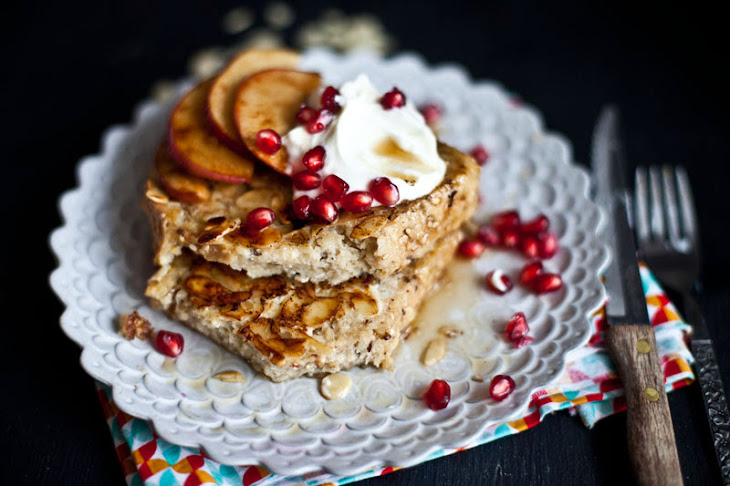 French Toast with Apples, Pomegranate, & Greek Yogurt. Recipe