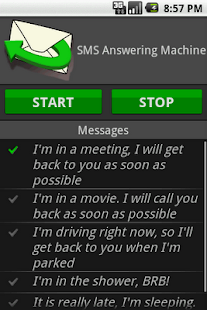 SMS Answering Machine - screenshot thumbnail