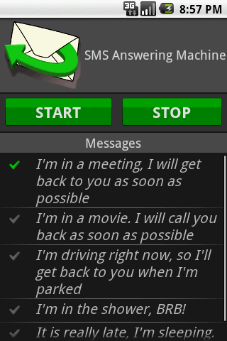 SMS Answering Machine - screenshot