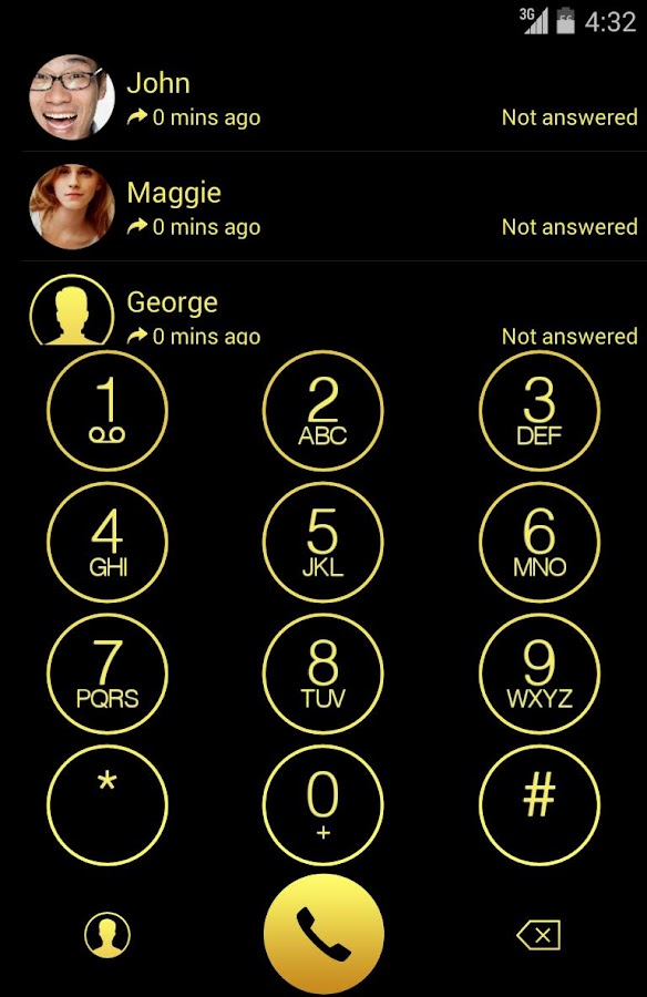 ExDialer OS 7.1 Gold Theme - screenshot