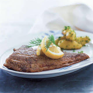 Pan-Fried Flounder with Potatoes in Parsley.