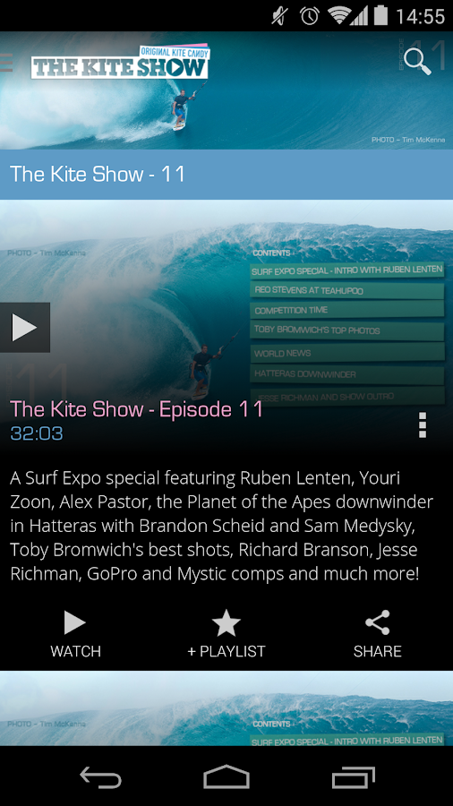 The Kite Show - kitesurfing TV - screenshot