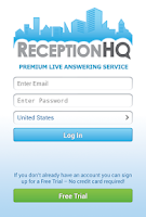 Screenshot of ReceptionHQ Answering Service