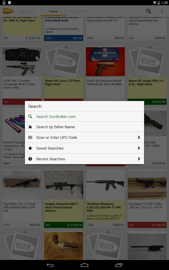 GunBroker.com- screenshot