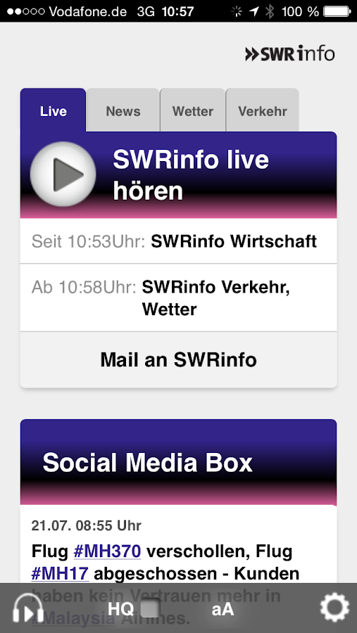 SWRinfo- screenshot