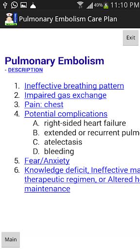 Nurse Care Pulmonary Embolism