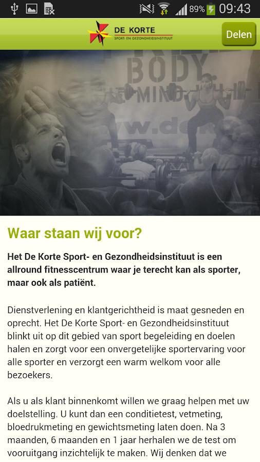 de Korte Sport - screenshot