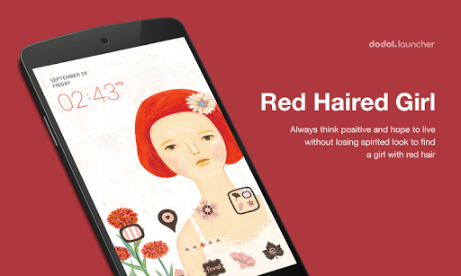 Red-haired girl dodol Theme