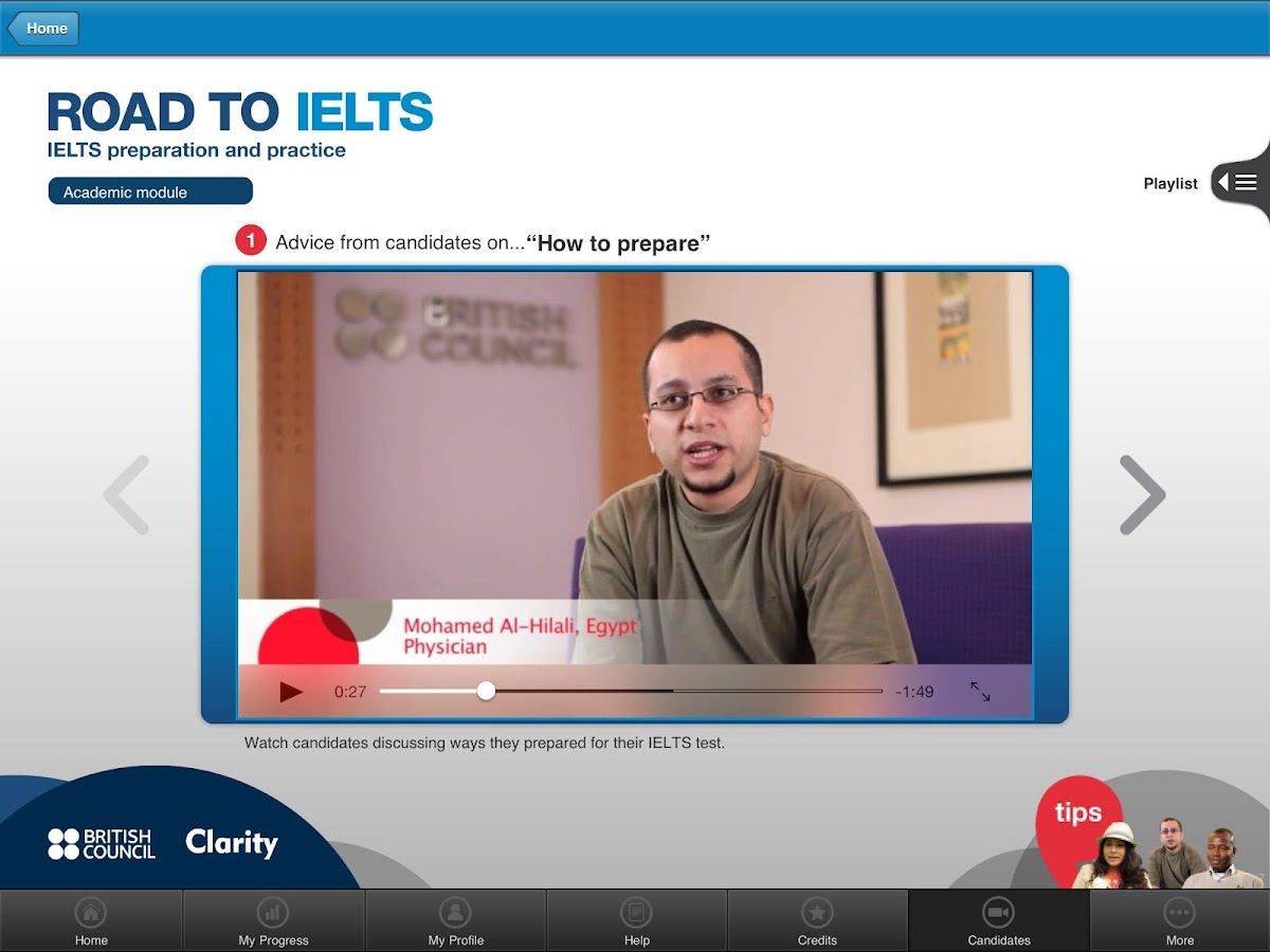 Road to IELTS- screenshot