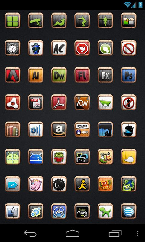 Wood Blok - Icon Pack - screenshot